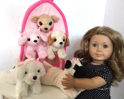 """Pet Puppy Dog House for American Girl Doll 18"""" Inch Accessor"""
