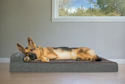 FurHaven Pet Cooling, Orthopedic, Memory Foam Print Suede Ch