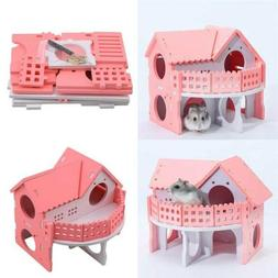 Pet Rat Hamster Wooden Climbing Ladder Exercise House Cage N