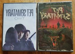 PET SEMATARY 1 & 2 DVD LOT Stephen King NEW SEALED TWO CEMET
