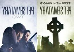 PET SEMATARY 1 & 2 Sealed New DVD Stephen King