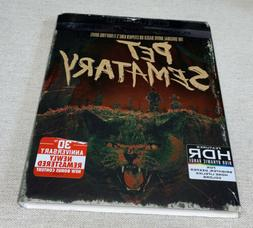 Pet Sematary 4K/Blu-Ray/Digital Combo Pack BRAND NEW w/Slip
