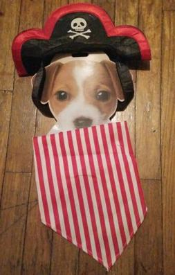 Pet Small Dog Cat Pirate Costume Outfit Hat Scarf For Hallow