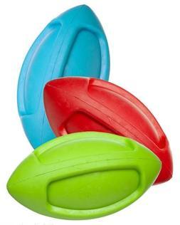 pet squeak funble football natural rubbercolors vary
