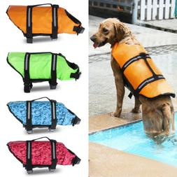 Pet Swimming Safety Vest Dog Life Jacket Reflective Stripe P