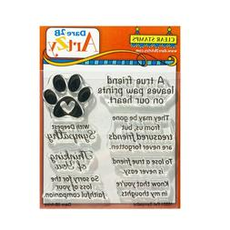Pet Sympathy Cling Stamps Words Dare 2B Artzy craft clear st