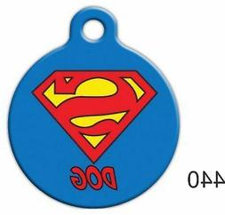 Pet Tags Dog Tags Super Dog Pet ID tag for Dog and Cat Colla