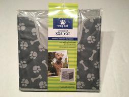 Top Paw Pet Toy Box Folding Storage Cube Cubbie Collapsible