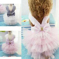 Pet Tutu Dress Lace Skirt Small Puppy Dog Cat Princess Dress
