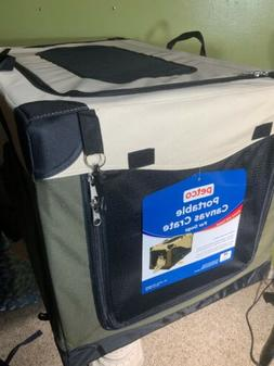 Petco Home Travel Portable Canvas Dog Crate With Carrying Ha