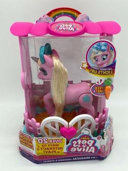 Zuru Pets Alive My Magical Unicorn And Stable Pink Unicorn N