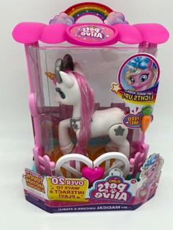 Pets Alive My Magical Unicorn And Stable White New