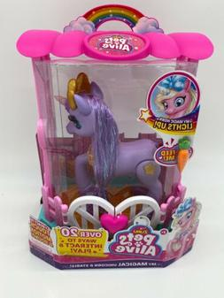 Pets Alive My Magical Unicorn And Stable Purple New In Box