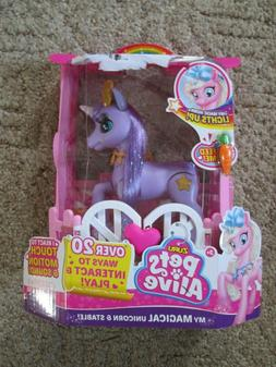 Pets Alive My Magical Unicorn Interactive Robotic Toy by ZUR