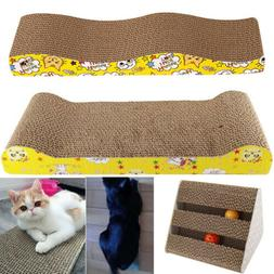 Pets Cat Kitten Corrugated Scratch Board Pad Bone Scratcher