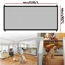 Pets Dog Cat Baby Safety Gate Mesh Fence Portable Guard Indo