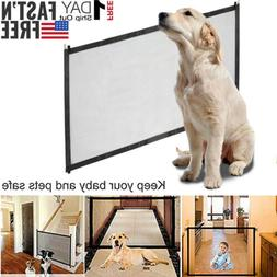 Pets Dog Cat Baby Safety Gate Mesh Fence Magic Portable Guar