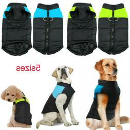 Pets Dog Vest Jacket Warm Waterproof Clothes Winter Padded P