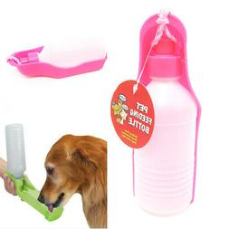 PETS DOG WATER BOTTLE BOWL PORTABLE DRINK DISH CAT BIRD TRAV