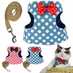 Pets Leash Control Harness Cute Cat Soft Jackets Walk Collar