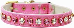 Mirage Pets Pink Deluxe Cat Collar with Safety Band, Fits Ne