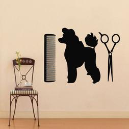pets wall decals dog grooming salon decal