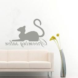 Pets Wall Decals Grooming Cat Vinyl Decal Animal Sticker Int