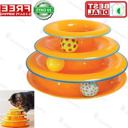 Petstages Tower of Tracks Ball and Track Interactive Toy for