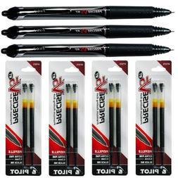 Pilot Precise V5 Rt, 3 Pens 26062 with 4 Packs of Refills, B