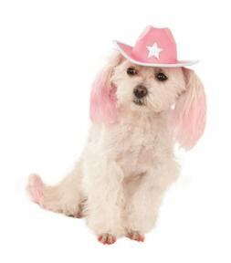 Pink Cowboy Hat w/ Star for Dogs Rubie's Pet Shop S/M Costum