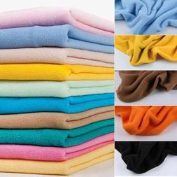 Anti Pill Solid Polar Fleece Fabric Sofa Bed Sheet Blanket P