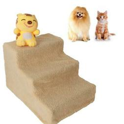 Plastic 3 Steps Pet Stairs Cat step Ladder Dog Climb Ramp Be