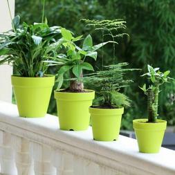 Plastic Clay Plant Pot Pastoral Style Flower Vase Planter Fo