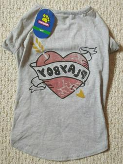 Top paw playboy Pet/dog t-shirt * size large * new with tags