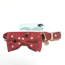 Blueberry Pet Polka Dot Collar Red Bow Small New