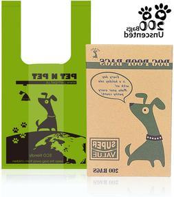 PET N PET Poop Bags Dog Waste Bags with Easy Tie Handles Lea
