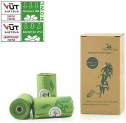 PET N PET Poop Bags Vegetable-Based 120/240 Counts Biodegrad