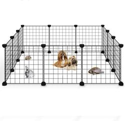 """Portable 14""""Metal Dog Pet Playpen Crate Animal Fence Exercis"""