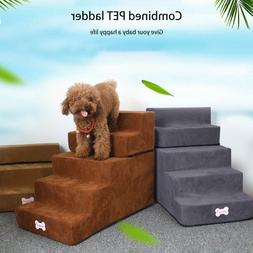 Portable Dog Steps 4/5 Steps for High Bed Pet Stairs Small D