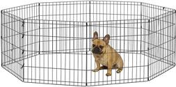 Portable Pet Playpen Foldable Metal Small Animals Cage Exerc
