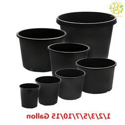 Premium Black Plastic Nursery Plant Container Garden Planter