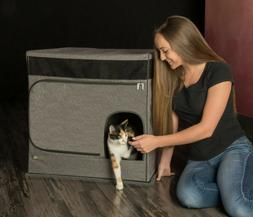 Pet Gear Pro Pawty for Cats Hides Contains Litterbox Stops L