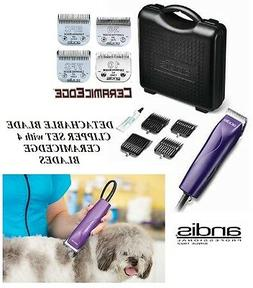 Andis Pro PET Clipper Kit w/CERAMICEDGE 10,30,7FC,5FC Blades