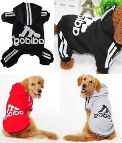 Small Large Pet Dog Cat Winter Clothes Sweater Jacket Shirt