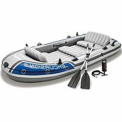 Raft Set 5-Person - Inflatable Raft Floating Boat, Air Pump,