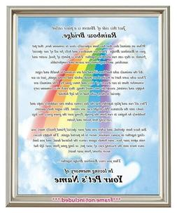 Rainbow Bridge Pet Loss MEMORIAL POEM Dog Cat Personalized 8