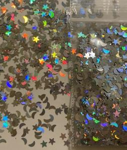 rare holographic star moon glitter mix twinkle