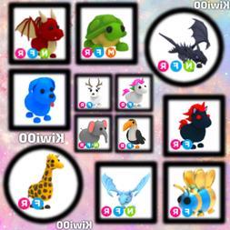 Roblox Adopt Me Mega, Neon, & Fly Ride Pets!!