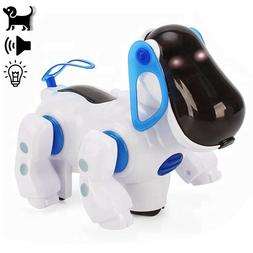 Robot Dancing Dog Bump and Go Electronic Toy LED Walking pet