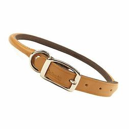 Coastal Pet Products Rolled Oak Leather Collar Tan